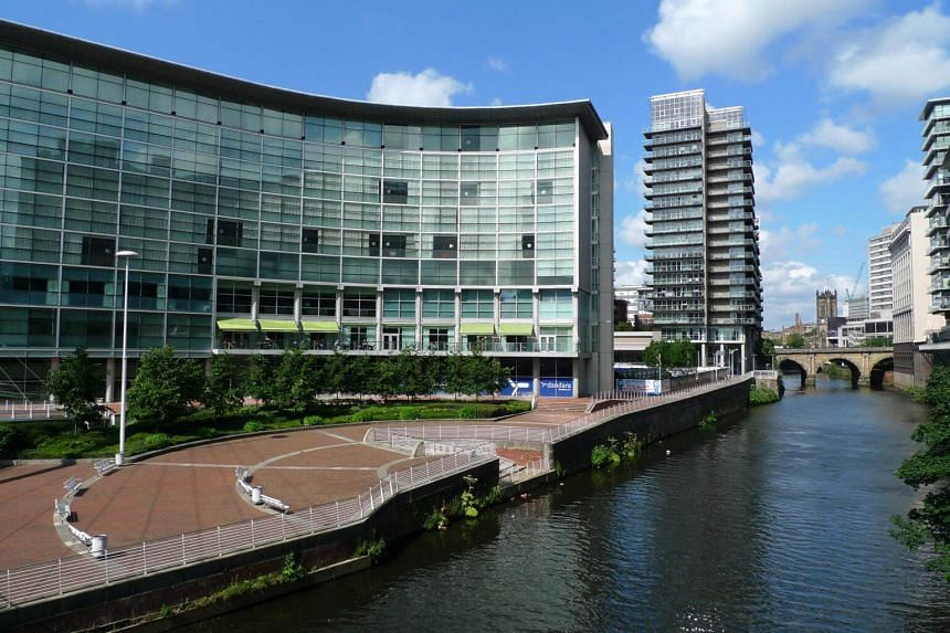 The award-winning Lowry Hotel situated on the banks of the River Irwell in Manchester, Britain.