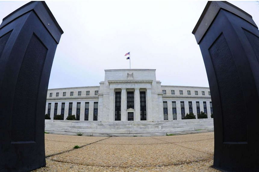 A file photo shows the US Federal Reserve building in Washington, DC.