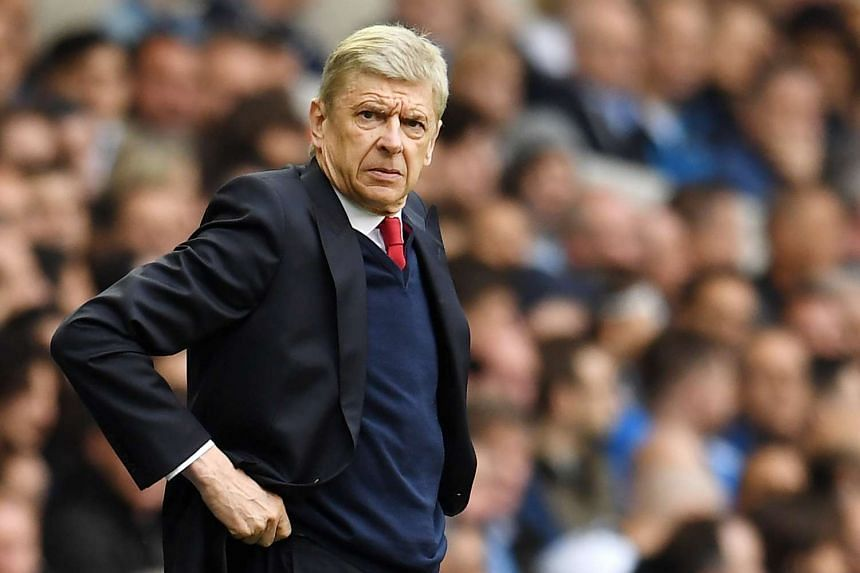 Wenger during a match against Spurs on April 30, 2017.