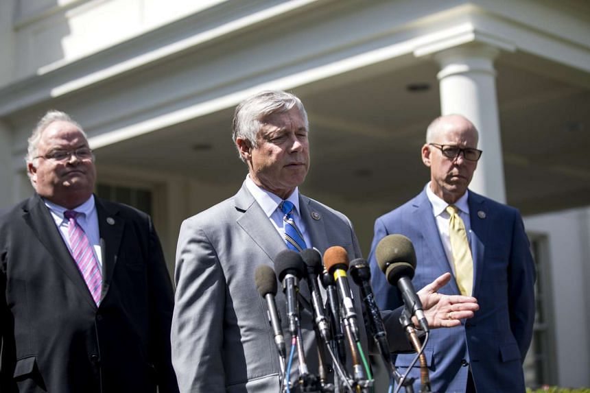 Republican Congressman from Michigan Fred Upton (centre) threw his support behind the measure.
