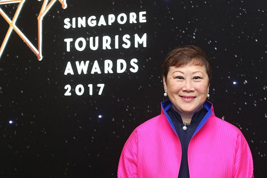 Mrs Janet Tan-Collis was awarded a lifetime achievement accolade at the Singapore Tourism Awards on Thursday.