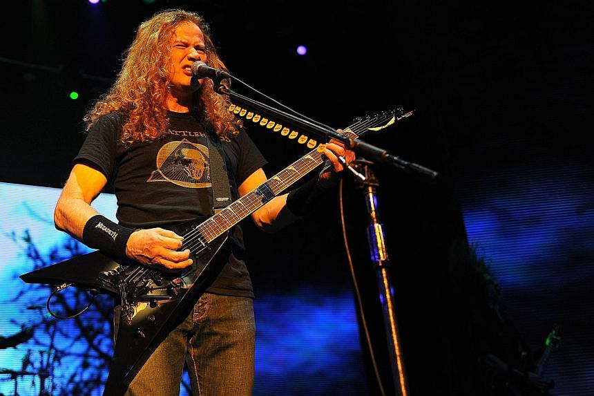 Megadeth frontman Dave Mustaine can execute complex riffs and intricate tempo shifts as fast as any new guitarist who came after him.