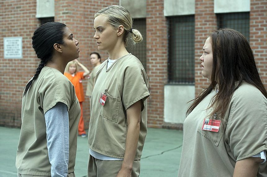 Subscription services such as Netflix are driving down video piracy by expanding choice and producing their own content, such as Orange Is The New Black (above).