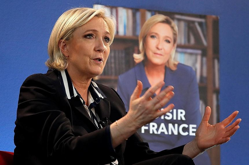Ms Marine Le Pen of the National Front during an interview with Reuters in Paris on Tuesday. US website Politico notes some ways the French presidential candidate can ensure a victory on Sunday are to convince undecided conservatives to vote for her