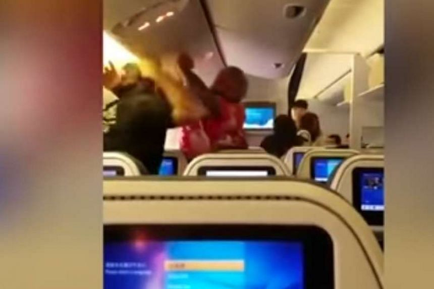 A fistfight that broke out between two male passengers on an All Nippon Airways flight on Monday (May 1).