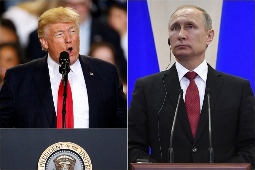United States President Donald Trump (left) and Russian President Vladimir Putin spoke by phone on Tuesday (May 2).