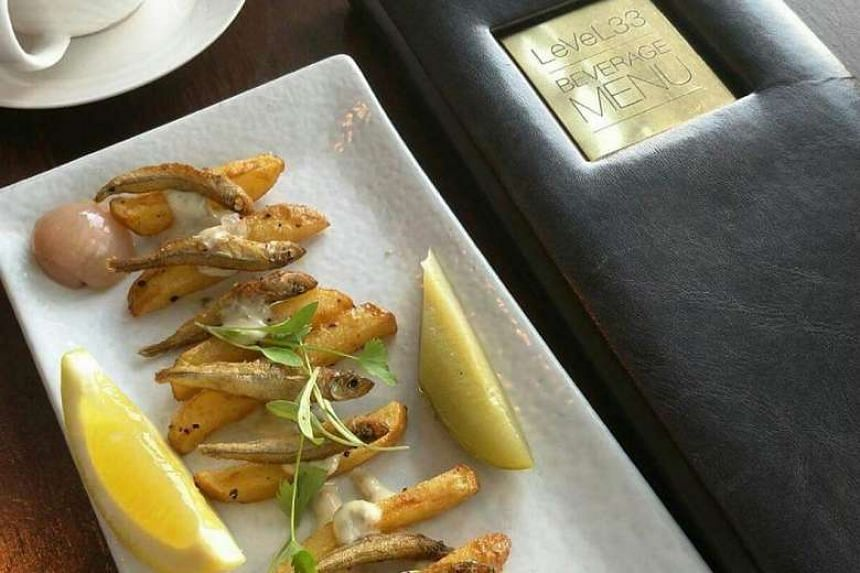 The Fish and Chips at at LeVeL33 in Marina Bay Financial Centre.