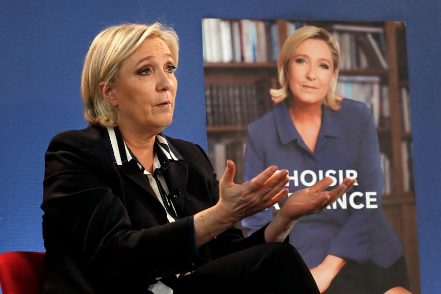French far-right presidential candidate Marine Le Pen said she had wanted to draw attention to her similarities with Mr Fillon, whose voters she is trying to attract.