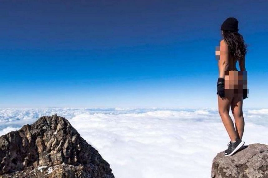 Playboy model Jaylene Cook posed nude near the top of Mount Taranaki, which is considered to be sacred by the local Maori community.