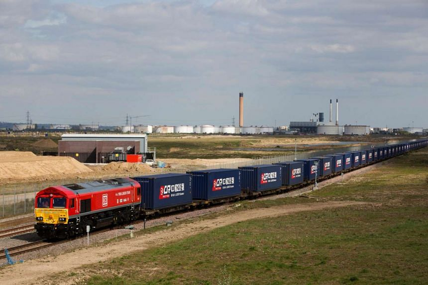 The first-ever freight train from Britain to China starts its journey along a modern-day Silk Road trade route.