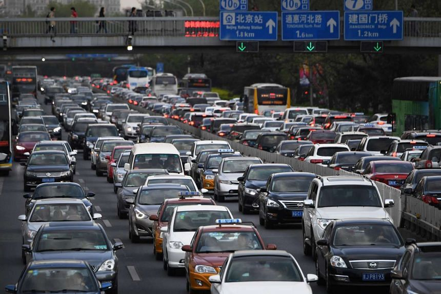 A view of traffic on Beijing's Second Ring Road.