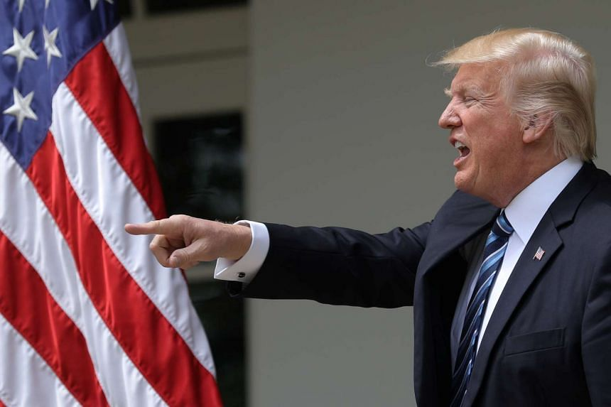 Donald Trump attends a National Day of Prayer event at the White House, May 4, 2017.