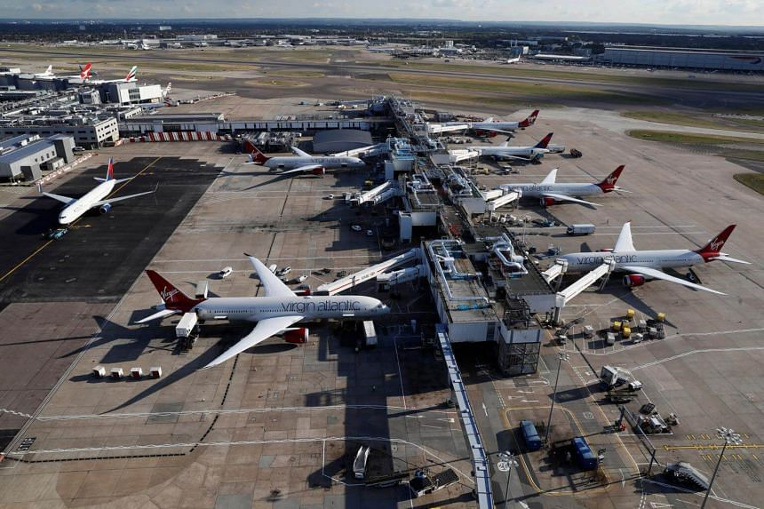 A police spokesman was quoted as saying that there were reports of a suspicious article at Heathrow Airport's Terminal 3.