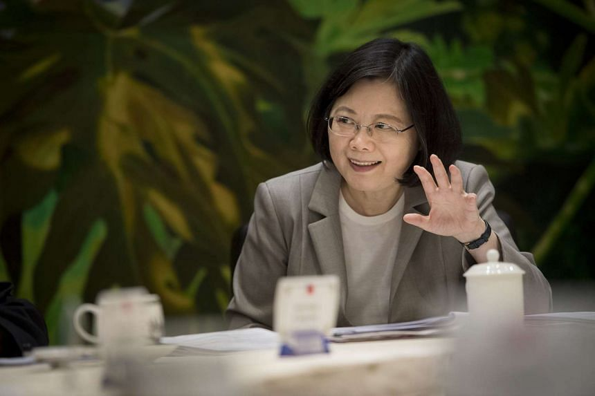 Taiwan president Tsai Ing-wen sat down for a chat with journalists from six Asean countries, including The Straits Times, at the Presidential Office Building on May 5, 2017.