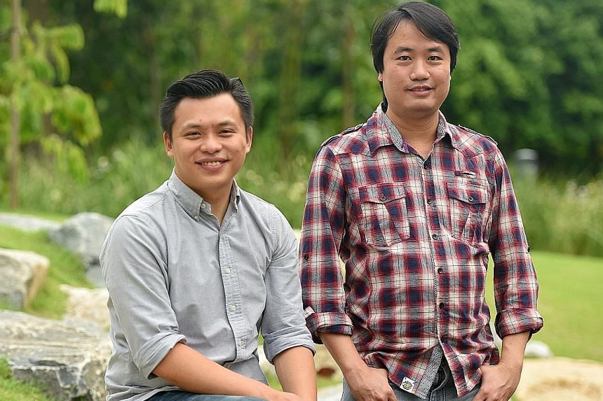 """""""It's our homage to a franchise that we grew up with and it is something that means a lot to many people.'' - LIGHT DESIGNER ADRIAN TAN (left, with Mr Bang Wenfu) on the 10th edition of the Garden Rhapsody"""