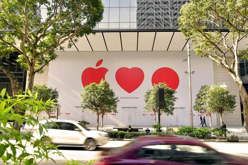 The Apple Orchard store yesterday. The Straits Times understands it will be opening soon, but no date has been given.