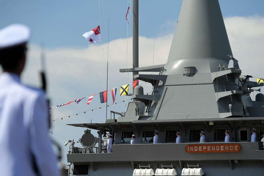 PM Lee commissioning the RSN's first littoral mission vessel, RSS Independence.