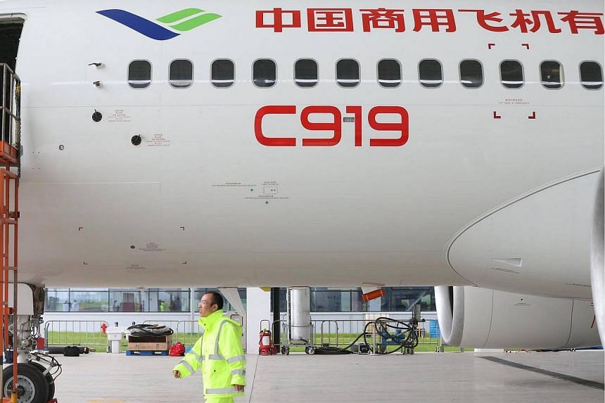 China's first modern large jet, the C919.