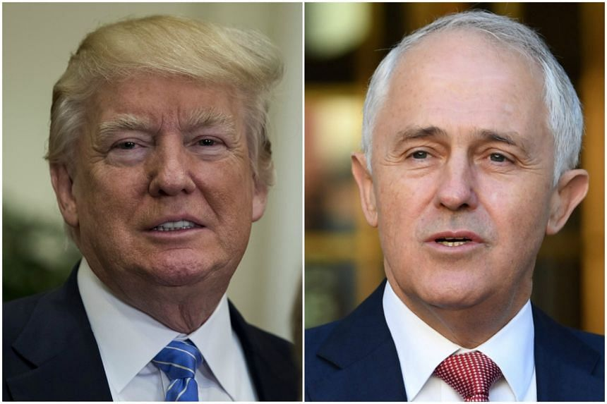 US President Donald Trump (left) and Australian Prime Minister Malcolm Turnbull are meeting in New York.