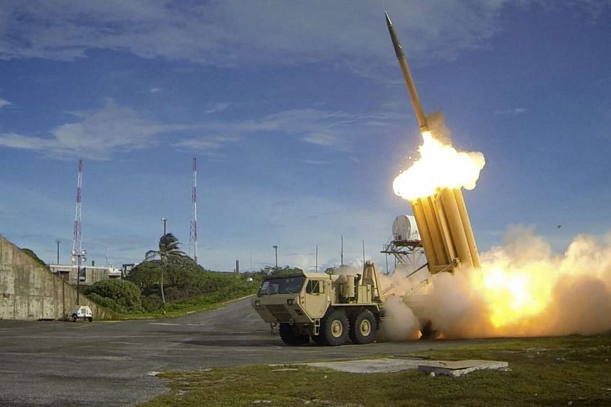 A Terminal High Altitude Area Defence (Thaad) missile defence system (above) is part of the package.