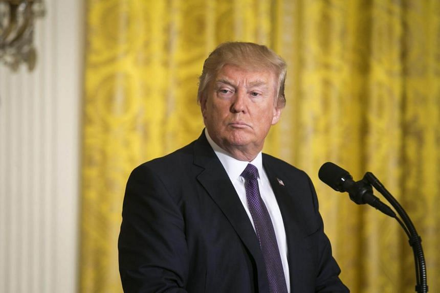President Donald Trump at a news conference, at the White House in Washington, on April 12, 2017.