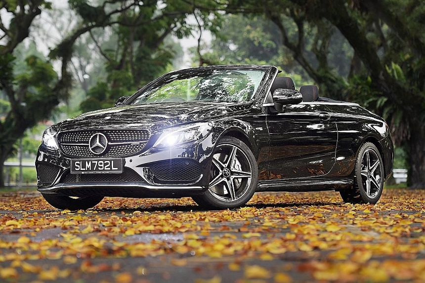 The Mercedes- AMG C43 Cabriolet is best enjoyed in Sport mode and with the top down.