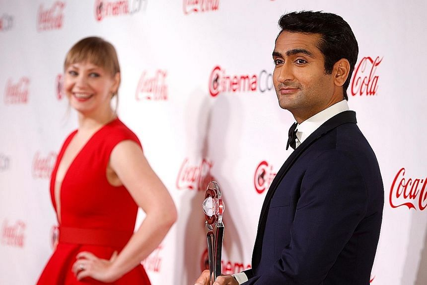 Actor/comedian Kumail Nanjiani with his future wife, Emily V. Gordon, who co-wrote the script for romantic comedy The Big Sick.