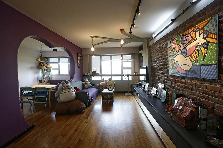 Pop Culture Owners Prefer Eclectic Style For Their 4 Room Hdb Flat