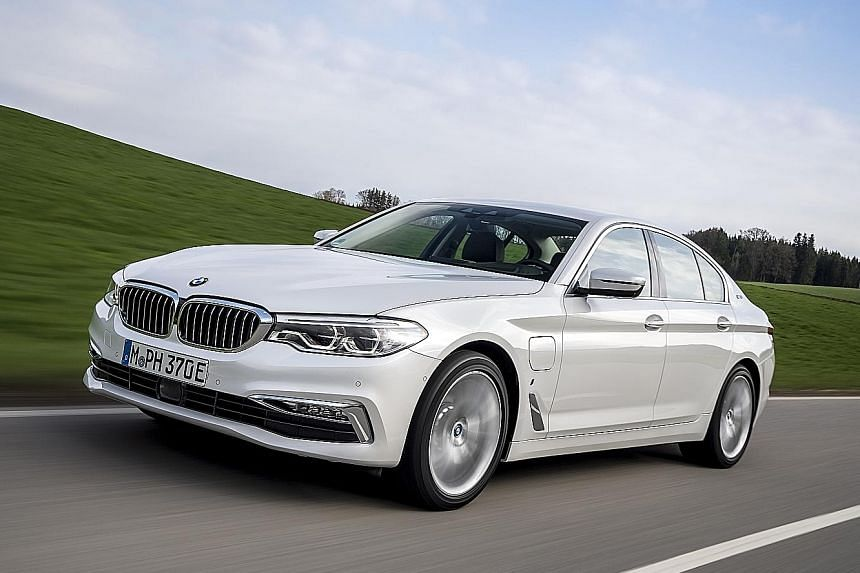 The BMW 530e iPerformance has a pure electric range of 50km - one of the longest for a plug-in hybrid.
