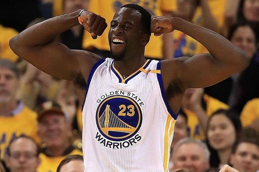 Forward Draymond Green did a lot of the heavy lifting for the Warriors at Oracle Arena. He had 21 points, seven rebounds, six assists, four steals and a block against the Utah Jazz in Game Two.