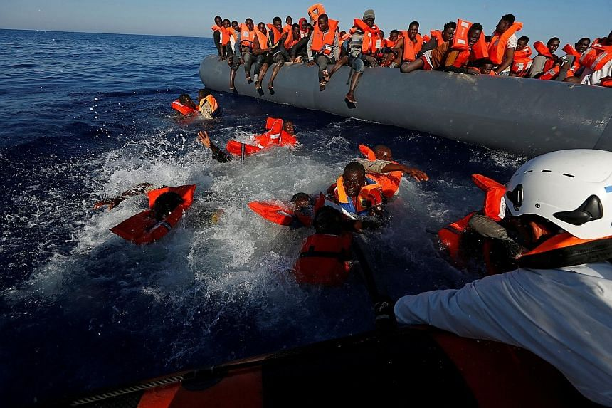 A rescue mission near the Libyan coast last month in which all 134 migrants on board were saved. Traffickers have been packing more people onto flimsy inflatable dinghies and setting them adrift at sea.
