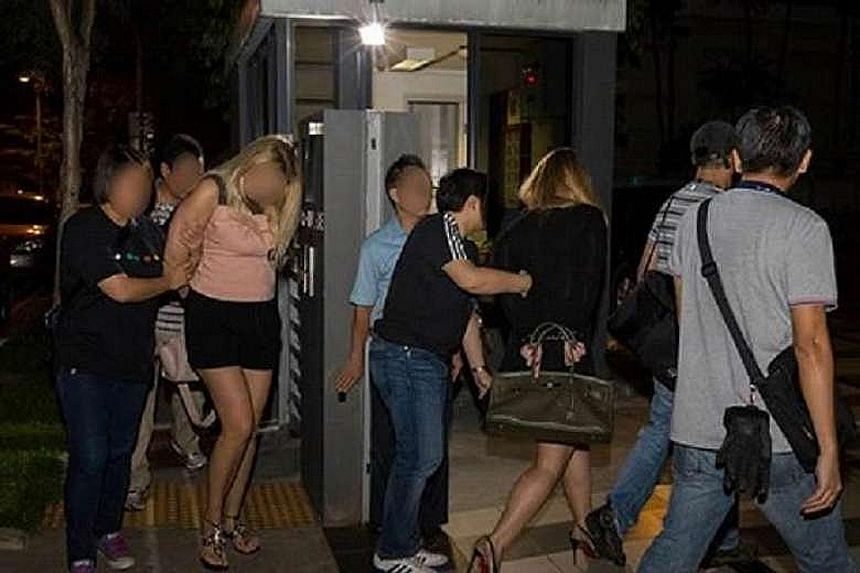 Of the four foreign women arrested, Lianhe Wanbao reported that two of them were taken to a Bella Casita condominium in Tanjong Katong to assist in police investigations.