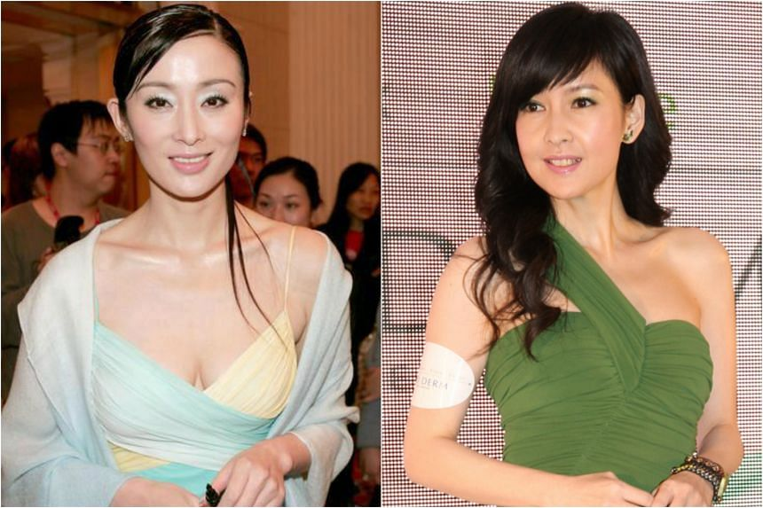 Actress Sharla Cheung (left) and singer Vivian Chow.