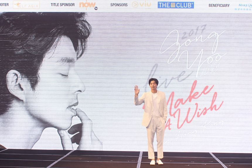 Gong Yoo at a press conference in Hong Kong.