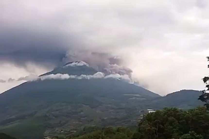 The so-called Volcano of Fire was spitting hot ash thousands of metres into the air.