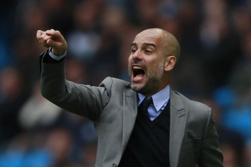 Pep Guardiola during the match against Palace.