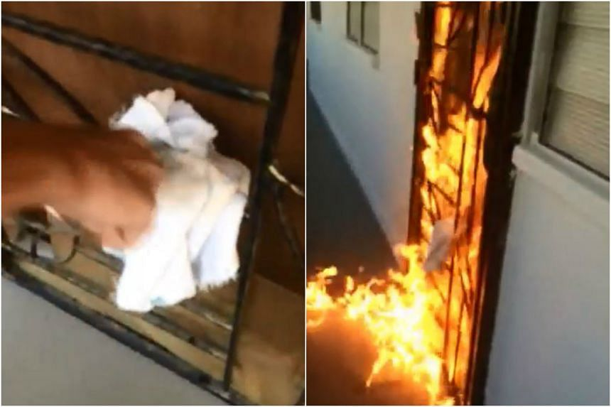 A Tampines resident received a video of a flat being set on fire by a loan shark, who threatened to do the same to her unit over debts owed to him by the previous owner.