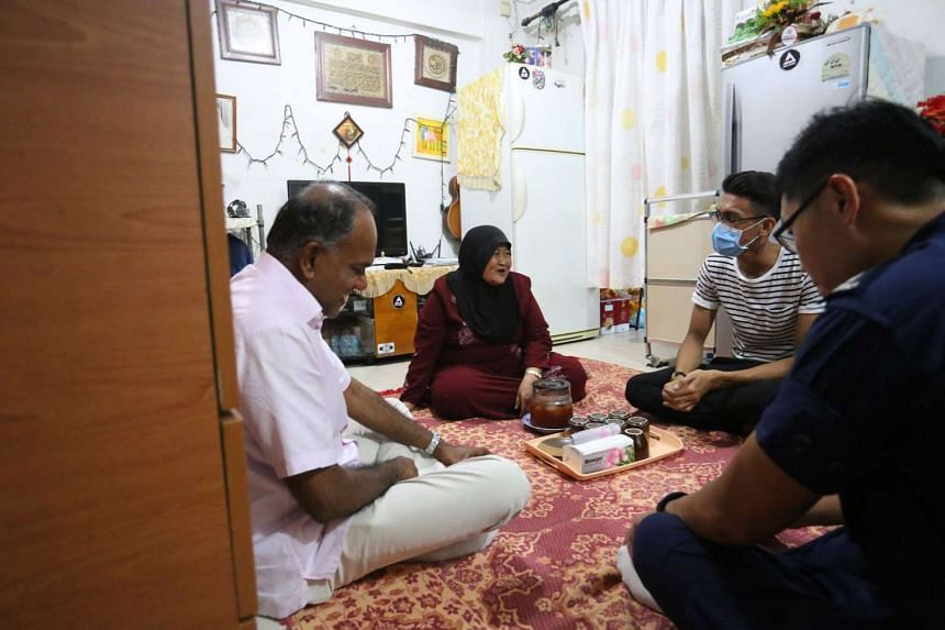 Home Affairs and Law Minister K. Shanmugam paid a visit to Corporal Eka Putra and his mother.