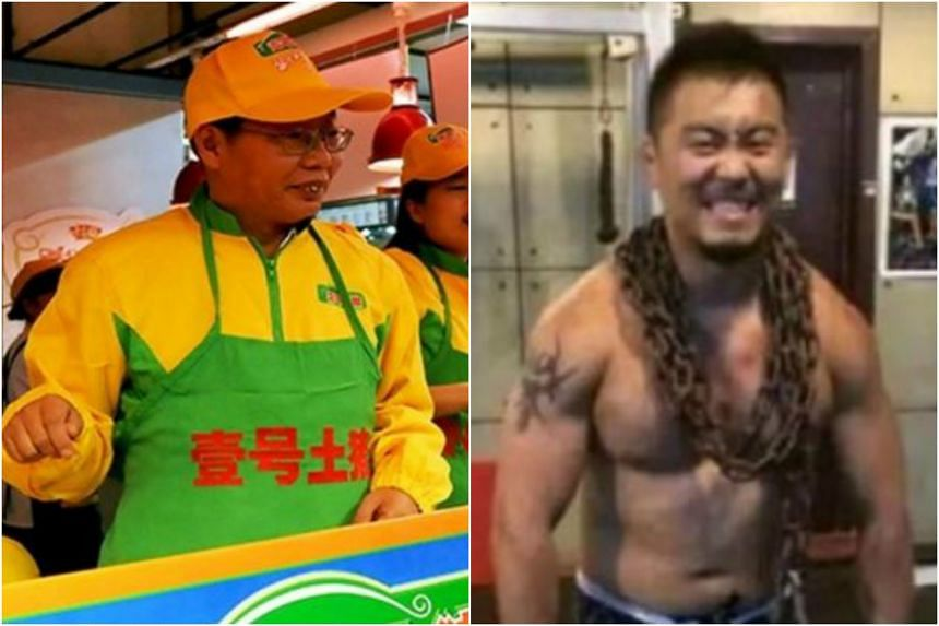 Tycoon Chen Sheng (left) said MMA fighter Xu Xiaodong (right) had provoked Chinese traditional culture and would have to pay the price.