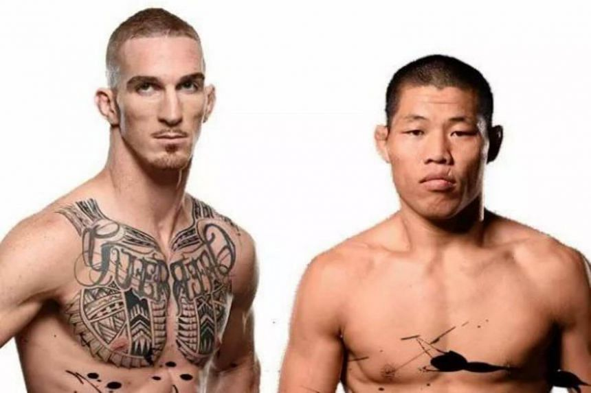 Li Jing Liang (right) will face off against Canadian striker Jonathan Meunier in the welterweight category on June 17.