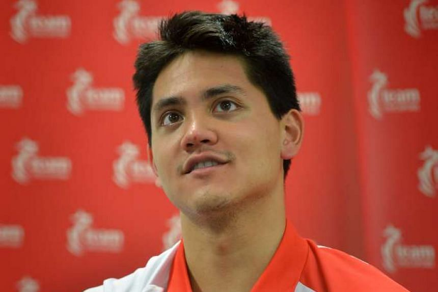 Joseph Schooling during a press conference at the Singapore Sports Hub on August 16, 2016.