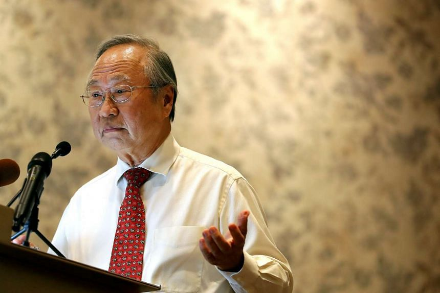 Dr Tan Cheng Bock at a press conference at Sheraton Towers on March 31, 2017. He had called on the Government to make the upcoming Presidential Election an open election at the press conference.
