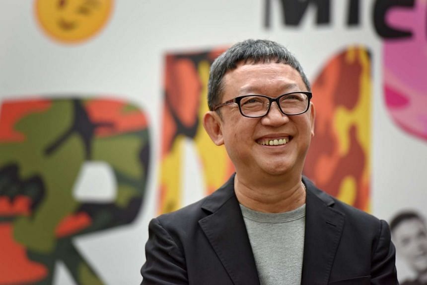 Playwright Michael Chiang at the media conference of Army Daze 2, a sequel to the comedy play about National Service in Singapore.