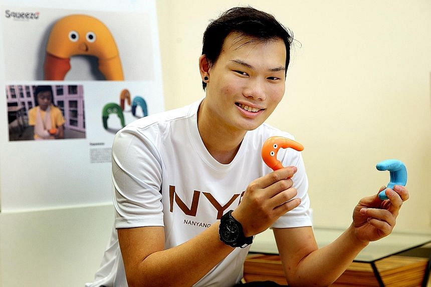 Mr Goh Han Wei graduated with an industrial design diploma from Nanyang Polytechnic, scoring a near-perfect grade-point average of 3.92 out of 4.0. Mr Goh, who plans to pursue an industrial design degree at the National University of Singapore, recei
