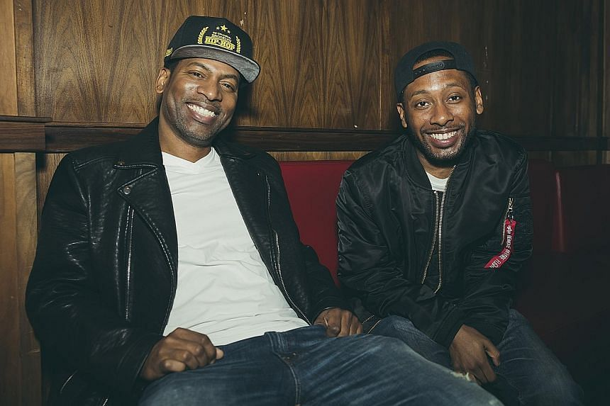 Tony (above left) and Jordan Rock, younger brothers of Chris Rock, at Los Globos club in Los Angeles.