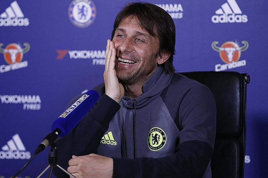 Chelsea manager Antonio Conte at a press conference ahead of his side's clash against Middlesbrough. He revealed part of his philosophy, telling reporters he does not pander to his players' egos.