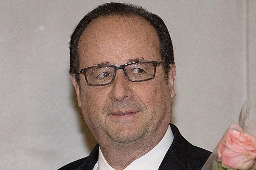Alain Juppe Francois Hollande Francois Fillon Jean-Luc Melenchon