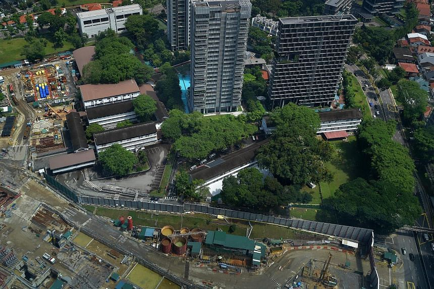 The former home of the Ministry of Home Affairs in Tanglin Road is one of the sites identified for future residential use. It is currently leased to a firm till August this year. The plot of land in Paterson Road where the Overseas Family School was
