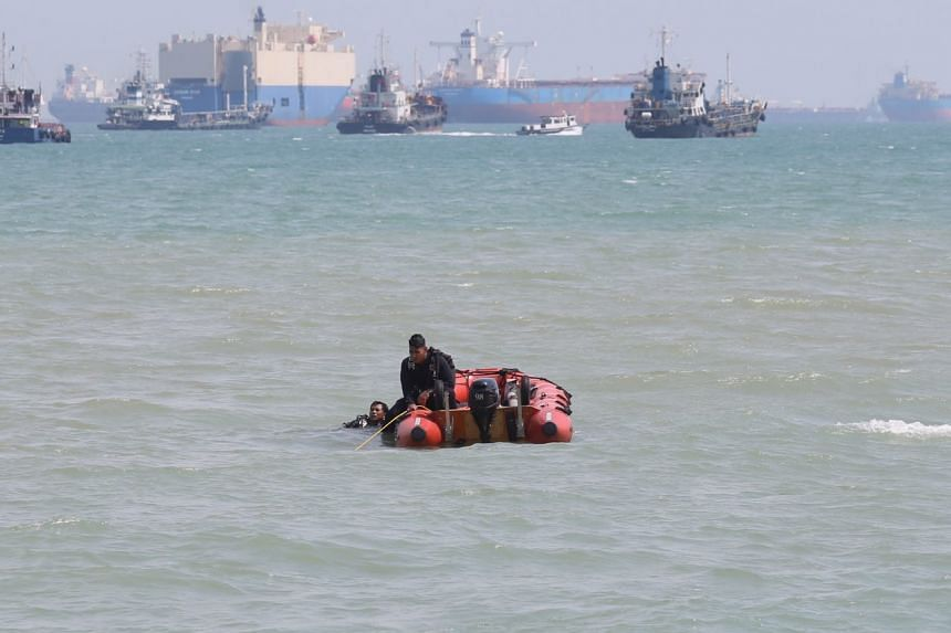 SCDF's Dart rescuers search for a missing boy in the waters off East Coast beach on Monday (May 8) afternoon.