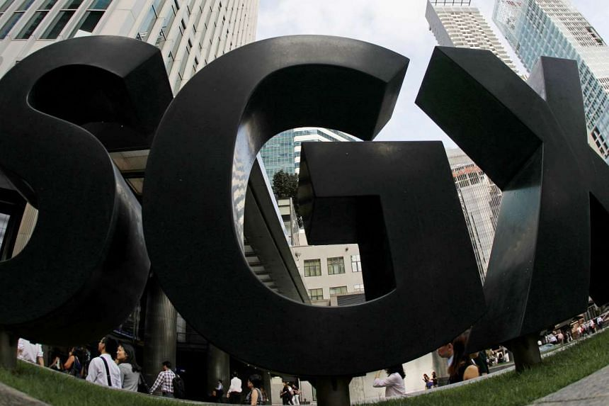 A view of the SGX signage outside its office in Singapore. PHOTO: REUTERS